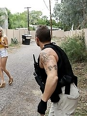 Shoplifter Naomi Woods Tries To Bargain Her Way Out Of Going To Jail With A Lusty Blowjob And A Raun