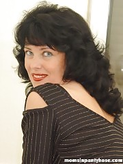 The hottest mature lady in black pantyhose!