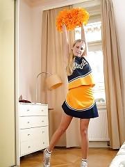 Young and beautiful cheerleader Tereza