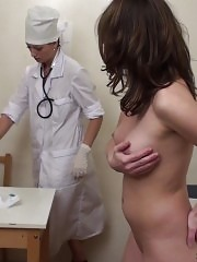 Female health exam performed by a lady doctor