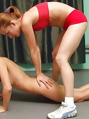 Lustful lesbian trainer and her favorite trainee