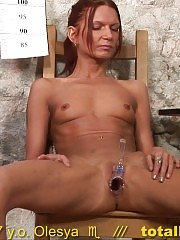 Secretary masturbates and cums on the interview table