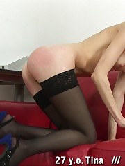 Office discipline lesson with doggy serving