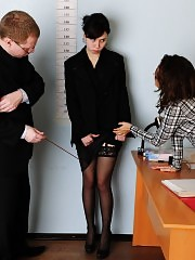 Double dildo BJ and other kinky job interview tests