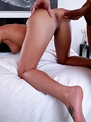Tanned Toned Brunette Rahyndee James Gives Her Lover A Hot Wet Blowjob And A Breakneck Ride In Her J