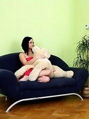 Lara Fucks With Her Stud On The Sofa.