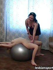 Big-titted gymnast seduced by her lesbian coach