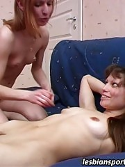 Girl gets seduced during lesbian workout