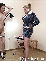 Nasty college girl gets a thrashing lesson