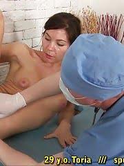 Perverted gynecologist wanna examine everything
