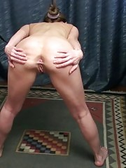 Merciless sports mistress and her nude pet