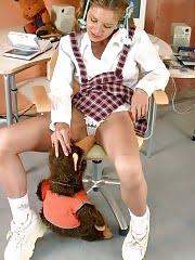 Tender teen babe in exciting schoolgirl uniform