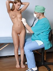Finger maledom at a kinky medical exam