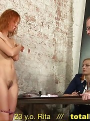 Confused secretary passing the unusual naked tests