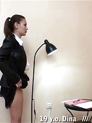 Still disobedient college girl with a spankable ass