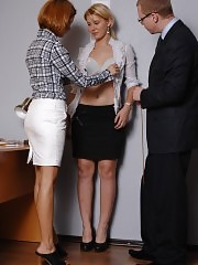 Too nude job interview passed by a teen girl