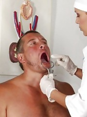 Body and genital exam of a subdued bodyguard