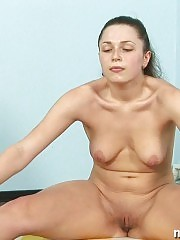 Yoga babe doing some sexy naked asanas