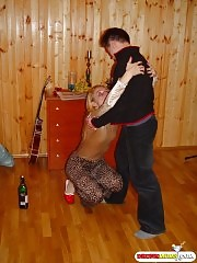 She is too drunk, he is not so drunk
