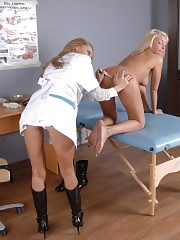 Kissed and fucked patient of a lesbian med slut