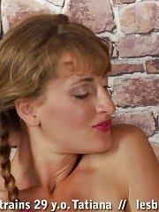 Mutual lesbian pussy rubbing after nude gymnastics