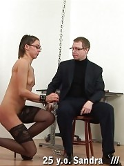 The head punishes a glassed teacher in nylons