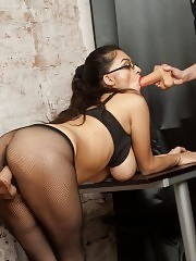 New office sex slave for their lusty boss