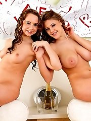 Busty Teens Embrace Each Other Beautiful Bodies With Hot Poses And Touches That Make Them Both Burn