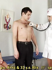 Wife giving BJ and HJ under medical control