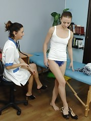 Sex-cold babe wants to solve her problem at a gyno exam