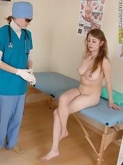 Buxom miss getting totally examined by a doc